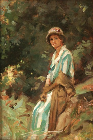 a rest in the woods by percy harland fisher
