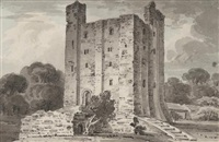hedingham castle, essex by edward dayes