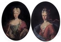 ritratto di gentildonna (+ ritratto di gentildonna; pair) by giovanni maria delle piane