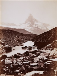 matterhorn und grünsee von findelen aus (matterhorn and grünsee as seen from findelen) by vittorio sella