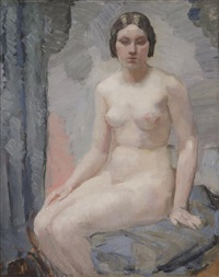 seated nude by roy de maistre