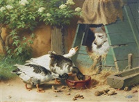 thieving geese by carl heinrich hoffmann