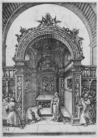 christus und die ehebrecherin by daniel hopfer