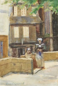 a corner by the church by norman garstin