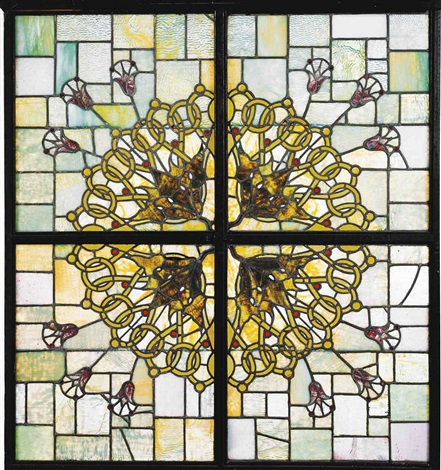 skylight from the auditorium building by louis henri sullivan