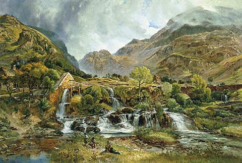 a landscape in wales by charles tattershall dodd the elder