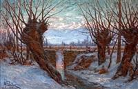 crépuscule d'hiver, la chaine de belledonne by andre albertin