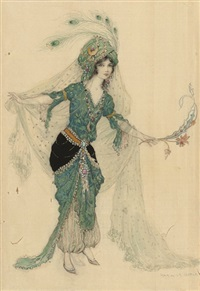 odalisque by warwick goble