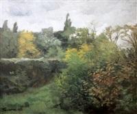 biches en sous-bois by wilhelm trübner