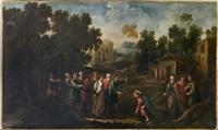 le christ et la femme adultère by luciano borzone