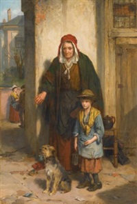 a poor beggar bodie by thomas faed