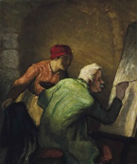 the artist at his easel by william strang