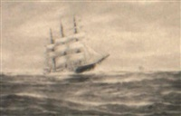 the clipper 'sovereign of the seas' by j. arnold