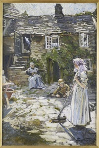 a wessex courtyard by francis henry newbery