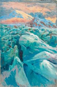 glacier dans le caucase by evgeniy ivanovich pospolitaki