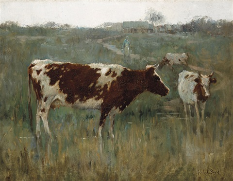 milking time at heidelberg by theodore penleigh boyd