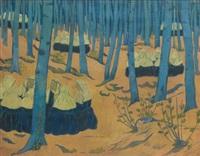 bretonnes, réunion dans le bois sacré by paul sérusier
