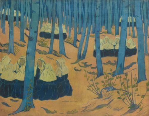 bretonnes réunion dans le bois sacré by paul sérusier