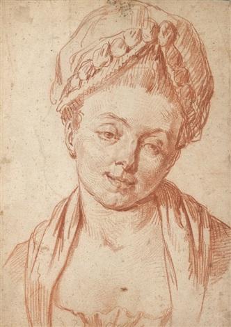 portrait dune femme en buste by pierre alexandre wille