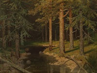 spruce forest by valerian vitalievich babadin