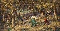 gathering bluebells by william stewart macgeorge