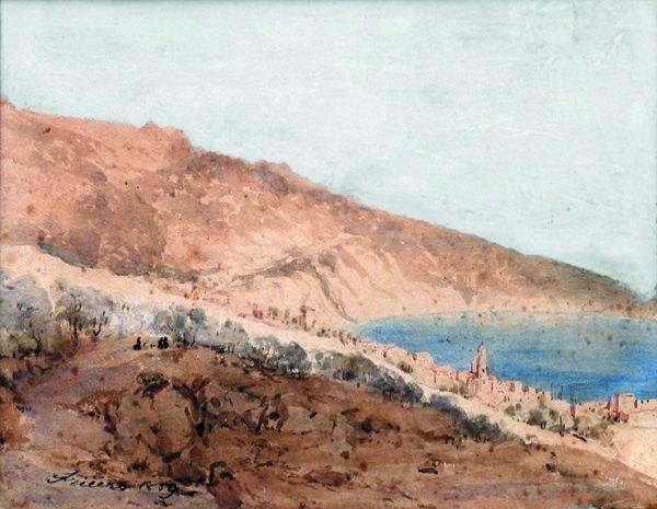 vue de villefranche by joseph fricero