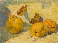 still life with quinces by jenny liber argyrou