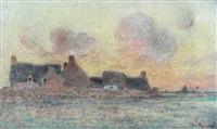 hameau breton près de la mer by ferdinand puigaudeau