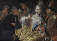 a courtship scene by carlo amalfi