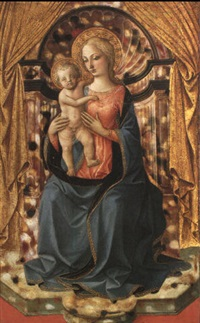 the virgin and child enthroned by francesco pesellino