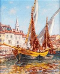 bateaux de pêche aux martigues by auguste pegurier