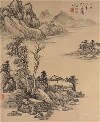 山水 立轴 纸本 by liu yantao