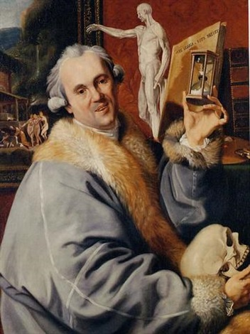 a vanitas portrait of johan zoffany by johann joseph zoffany