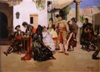 spanische szene by vicente campesino y mingo