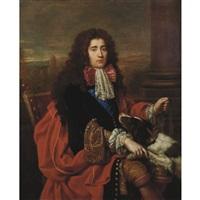 portrait of louis francois marie le tellier, marquis de barbezieux, secretaire d'etat a la guerre by pierre mignard