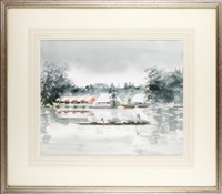 punting up to henley (+ 2 others; 3 works) by janet duncan