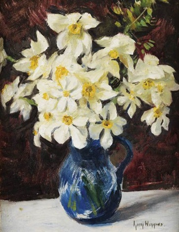 still life with daffodils by guy carleton wiggins