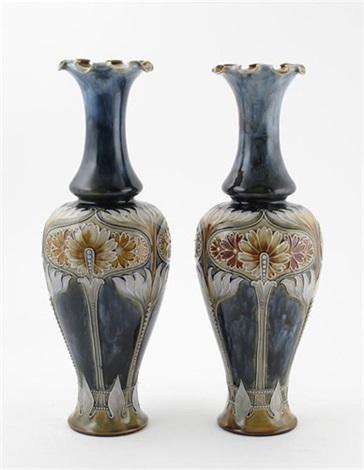 Vases Pair Decorated By Eliza Simmance By Royal Doulton On Artnet