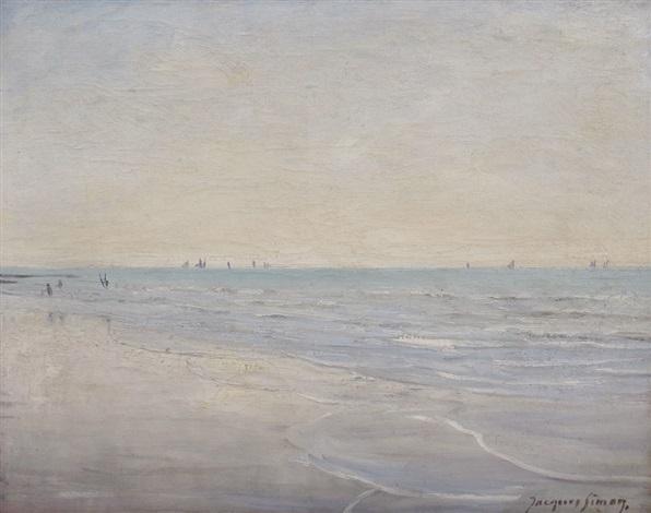 coastal scene by jacques roger simon