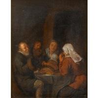 peasants saying grace by jan miense molenaer