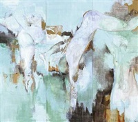 la baignade (triptych) by florence arnold