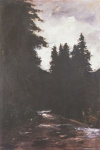 a river along the forest by lesser uri