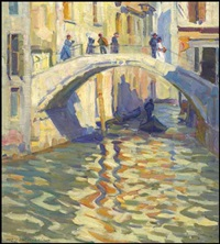 the foot bridge, venice by helen galloway mcnicoll