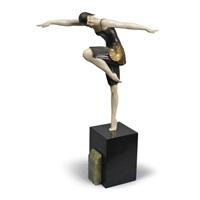 an art deco figure of a dancer by samuel lipchytz