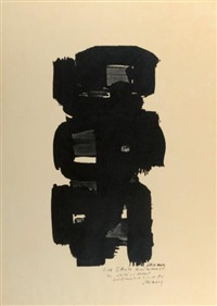eau forte xxiv by pierre soulages