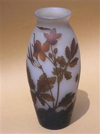dekoracyjny wazon z kwiatami polnymi by arsall (vereinigte lausitzer glaswerke)
