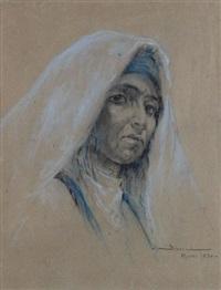 portrait de marocaine de face by carlos abascal