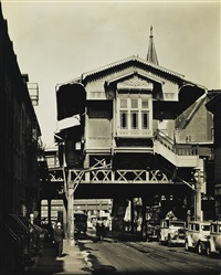 el station, ninth avenue lines by berenice abbott