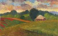 house in landscape by alison baily rehfisch