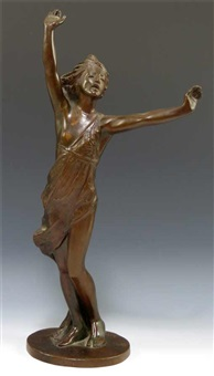 dancing girl in classical tunic by louise allen
